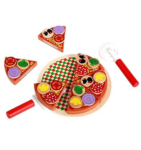 Ulalaza Juguetes de Chef de Cocina de simulación de Pizza de Madera Juguete de imaginación Juego para Regalos de niño niña