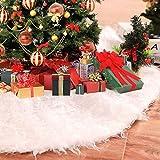 LYTIVAGEN Tapis de Sapin de Noël Blanc Jupe de Sapin de Noël en Peluche...