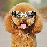 Coolber Tech Dog Sunglasses, Dog Goggles for Small Pets UV Protection Sunglasses Windproof Anti-Fog Eye Protection with Adjustable Band