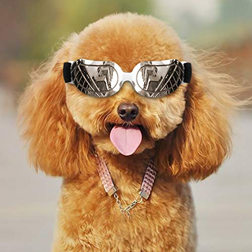 Coolber Tech Dog Sunglasses, Dog Goggles for Small Pets UV Protection Sunglasses Windproof Anti-Fog...