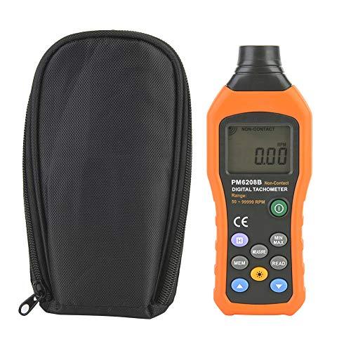 YOPOTIKA Medidor de Rotación con Tacómetro Digital sin Contacto con Pantalla Lcd para Medir La Velocidad de Rotación Del Ventilador Del Neumático