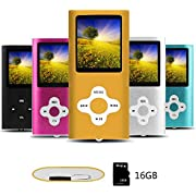 Btopllc MP3 Player MP4 Player Digital Music Player 16GB Internal Memory Card Portable and Compact MP3 / MP4 Music Player/Video Player
