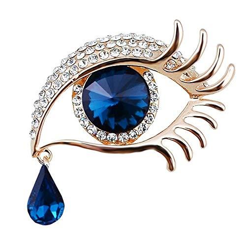 Qiwenr Rhinestone Ángel lágrimas Ojos Broche,Lágrima de Angel Crystal Rhinestone Diamond Encanto...