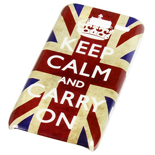 Handy Lux® Schutz Hülle für Motorola Razr i XT 890 Hard Case Etui Cover Involto Motiv Design Hülle UK Flagge Retro Keep Calm and Carry On