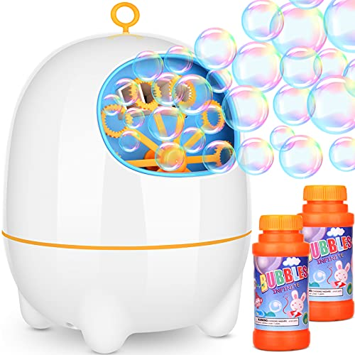 Amagoing Bubble Machine, Automatic Bubble Blower for Kids and Toddlers with Bubbles Solutions for Outdoor/Indoor Use