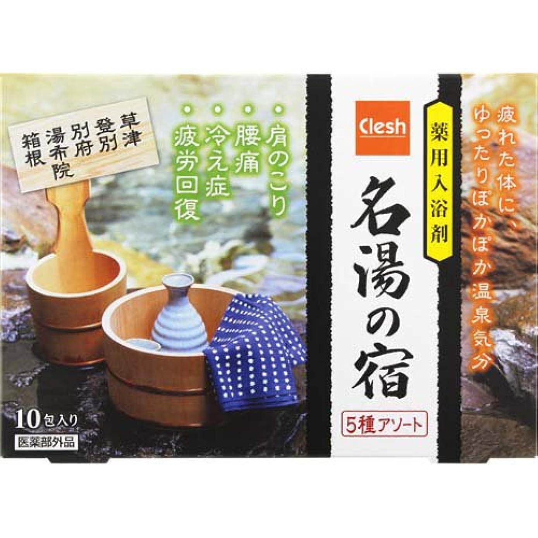 入射性能太陽Clesh(クレシュ) 薬用入浴剤 名湯の宿 5種アソート 10包