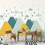 Ambiance-Sticker Muraux Autocollant Enfants Decoration Géant Montagnes Scandinaves pour Chambre Bébé Ziska 55 x 110 cm, 1 Unité