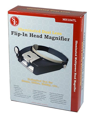 SE Illuminated Dual Lens Flip-In Head Magnifier - MH1047L