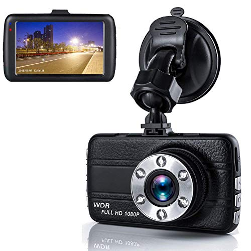 "Dash Cam,Dashboard Camera, Frehoy Full HD 1080, 3.0"" Screen DVR Car Dashboard Camera Recorder with 170° Wide Angle, Night Vision, G-Sensor, WDR, Loop Recording6 Motion Detection, Parking Monitor"