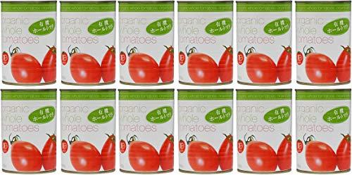 むそう 無添加 有機ホールトマト 400g×12個 <箱売り>★宅配便★ 地中海の温暖な気候の中で、太陽をたっぷりあびて育った完熟トマトを、トマトピューレに漬けて缶詰にしました。パスタソースやスープ、煮込み料理に幅広くお使い頂けます。