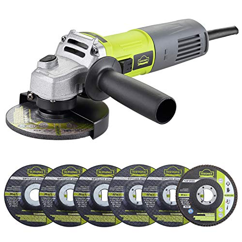 Angle Grinder, DEWINNER Corded Cutting Grinding Polishing, with Disc, Side Handle, 850 W 220-240 V...