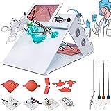Caja De Simulador De Entrenador Laparoscópico, Kit De Simulador con 4 Instrumentos Quirúrgicos Y 5 Tipos De Módulos De Entrenamiento Cámara, para Equipos Enseñanza Médica