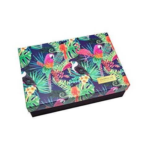 Kerstcadeaubox, geschenkdoos voor kleding, met parfum, rechthoekige geschenkdoos 463 × 318 × 115mm 2 paquete(rosa+oro rosa)