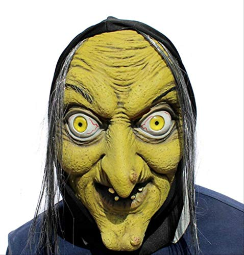 Maske Grünes Gesicht Hexe Beängstigend Latex Lustige Maskerade Maske Gesichtsmaske Party Prop Für Halloween Cosplay Dance Show