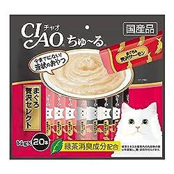 チャオ (CIAO) 猫用おやつ ちゅ~る まぐろ 贅沢セレクト 14g×20本