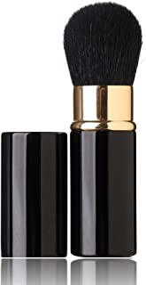 Retractable Makeup Brush - Goat Hairs - Portable Face Loose Powder Foundation, Mini Blush Brush Beauty Cosmetic Tool