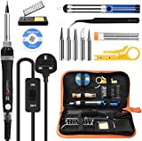 Soldering Iron Kit, Tabiger 60W Welding Tools with Adjustable Temp 200-450°C and ON/Off