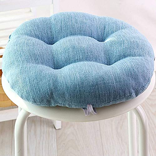 YUMYANY Round Non-slip Seat Cushion, Soft Tufted Cushion with Machine Washable Cover Relieve Muscle Stress Chair Pad Suitable for School Office Home Chair Cushion-A-diameter:45cm(18inch)