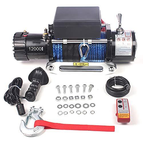 XINGXINGNS elektrische lier lier 12 V/24 V DC 12000 lb / 5400 kg 4,5 kW met draadloze afstandsbediening voor driedelen/aanhangers van auto, camper, boot