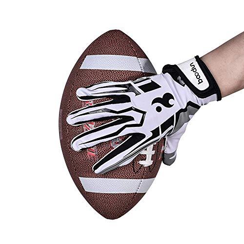 ENG Voetbal handschoenen voor man, Rugby handschoenen universeel, Ontvanger handschoenen voor rugby spel, Amerikaanse voetbal handschoenen, S