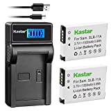 Kastar Battery (X2) & LCD USB Charger for Samsung SLB-11A SLB11A and Samsung WB600 WB650 WB700 WB1000 WB2000 CL65 CL80 EX1 HZ25W HZ30W HZ35W HZ50W ST1000 ST5000 ST5500 TL240 TL320 TL350 TL500 Cameras