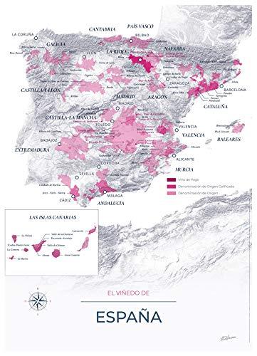 GeoVINUM - Mapa de vinos y viñedos de España sobre soporte rígido