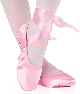 Niños y Adulto Danza Ballet de Niña Zapatos Satén