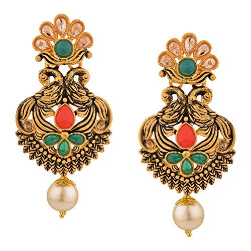 Efulgenz Boho Vintage Antik Gold Ethnische Gypsy Tribal Indische Bollywood Kristall Perlen baumeln Ohrringe Schmuck Set