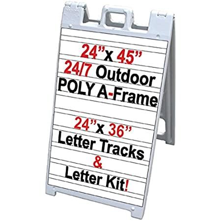 """Details about  /Rolling base changeable sign 24/"""" x 46/"""""""