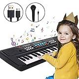Piano pour enfants, 37 touches Multi-Function Clavier électronique de Piano jouets avec Microphone pour enfants Garçon...