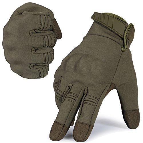 WTACTFUL - Guantes de dedo completo touch a prueba de viento, para invierno, para ciclismo, motociclismo, equipo de caza