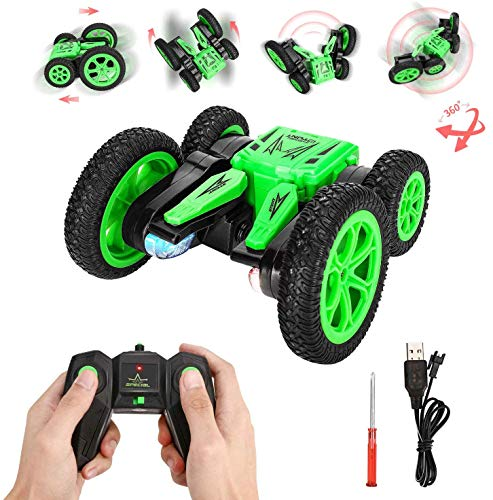 RC Coche, joylink 4WD 2.4GHz Stunt RC Car 1:20 Coche RC Doble Lado...