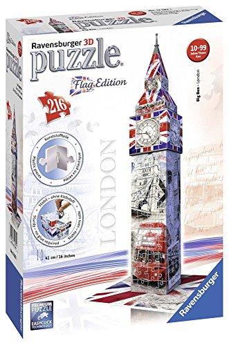 Ravensburger - 12582 - Puzzle 3D - Big Ben Flag - 216 Pièces