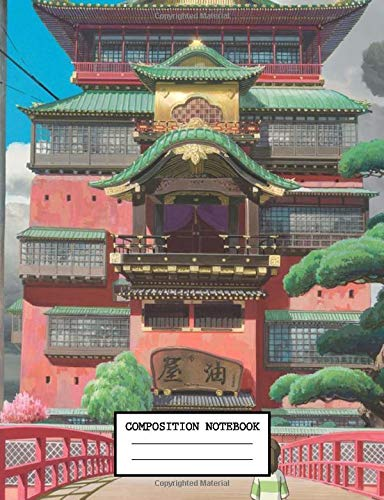 Composition Notebook: Kawaii Spirited Away No Face Japan Anime School Supplies Journal 7.5 x 9.25 in 110 pages