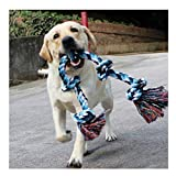 Jouets à corde pour chiens grands et forts, jouets à mâcher 5 poignées de corde...