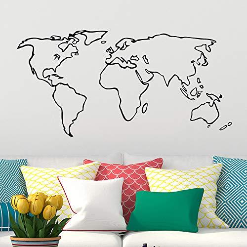 Neues Design Einfacher Stil Weltkarte Globale Vinyl Wandaufkleber Tapete Wohnzimmer Schlafzimmer Büro Dekoration DIY Kunst Aufkleber Wandplakat