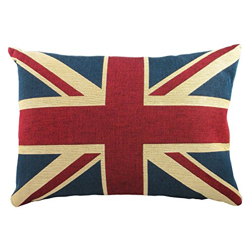 Union Jack Filled Cushion, Luxury Tapestry Cushions, 30cm x 45cm by Ideal Textiles