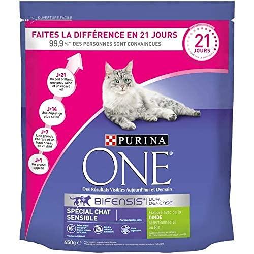 Purina One Spécial Chat Sensible à la Dinde Et Au Riz Croquettes pour Chat Adulte, 4,5kg