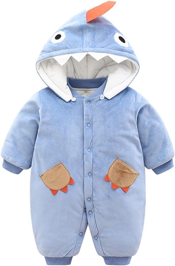 B/éb/é Gar/çons Hiver Barboteuse /À Capuche Flanelle Combinaisons Chaud Manteaux Pour Enfants 0-3 Mois