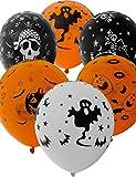 HomeTools.eu® - 33 globos de Halloween, diseño de calavera, 30 cm, juego de 33 unidades.