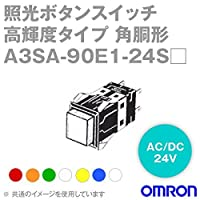 オムロン(OMRON) A3SA-90E1-24SW 形A3S 照光押ボタンスイッチ 超高輝度タイプ (角胴形) (正方形) (白・黄・青・ピュアホワイト) NN