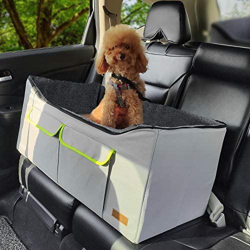 Akinerri Booster Car Seat with Pet Bed at Home for Small Dogs, Cats and Large Dog