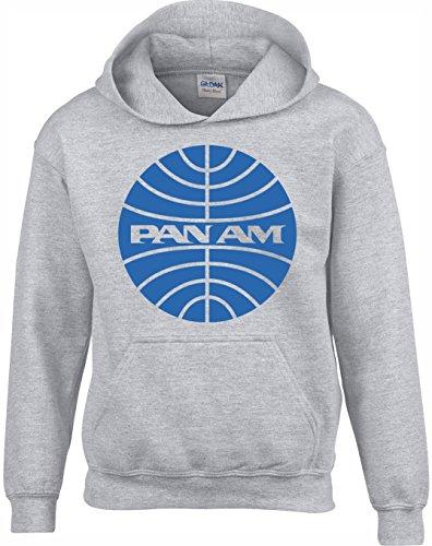 Crown Designs Pan Am Amerikanische Flugzeug-Drama-Tv-Show Unisex Pullover Für Männer, Frauen Und Jugendliche (Grau/X-Large)