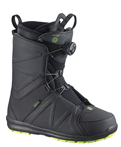Salomon–Botas para snowboard, unisex, L36819600-00, negro y amarillo