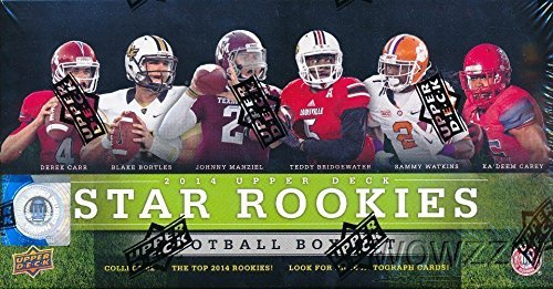 Price comparison product image 2014 Upper Deck NFL Football EXCLUSIVE STAR ROOKIES Factory Sealed Box Set with 42 ROOKIE CARDS! Includes Rookies of Odell Beckham Jr,  Derek Carr,  Jimmy Garoppolo & Many More! Look for Autographs!