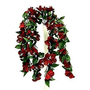Artificial Silk Flowers Hanging Hibiscus Bush Wedding Arch Centerpiece Vines 26″ #AFFTM