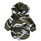 GINBL Pet Camouflage Small Dog Hoodie for Cute Dogs Sweatshirt Comfort Puppy Winter Costume Hoodies