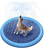 Drtopey Splash Sprinkler Pad for Dogs/Kids,59' Dog Bath Pool Thicken Slip-Resistant Material, Pet Summer Outdoor Water Toys