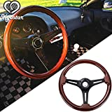 Kyostar Universal 350mm 14' Inch Grant Classic Nostalgia Style Wood Grain Steering Wheel with Horn Kit