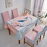 N&G Family Life Equipment Mantel de Lino Lavado Mantel Country Garden para Muebles de Cocina Mantel Rectangular(140 * 210cm)(Color: 1047 Tamaño: 140 * 210cm)